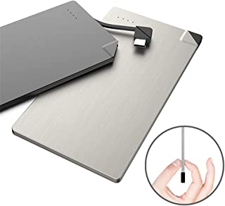 4000mAh Mini Forma de Tarjeta de Banco de energía portátil Ultra Delgada Batería Externa tamaño Bolsillo Compatible con teléfonos Inteligentes Android de ipone, Regalo de Navidad
