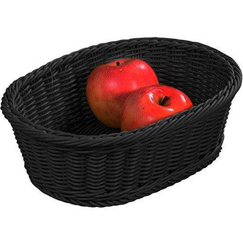 Kesper Brot-Obstkorb eckig in schwarz, Plastik, 32.5 x 24 x 11 cm
