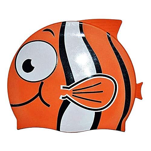 Inception Pro Infinite Cuffia Piscina Bambini - Silicone 100% - Nemo - Mare - Impermeabile - Aderente - Circonferenza Capo da 46 a 52 cm - Idea Regalo Natale e Compleanno