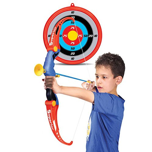 Leic Kinder Emulational Pfeil und Bogen Set Outdoor Simulation Shooting Game Spielzeug Set für Jungen Mädchen