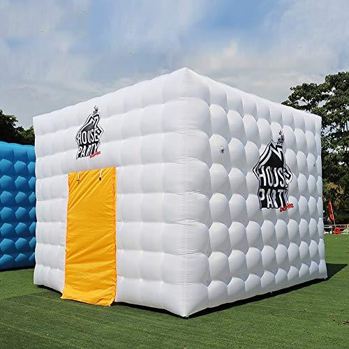 HXML Übergroße aufblasbare Quadrat-Rosa-Zelt Faltbare Parteien Sonnenschutz für Outdoor-Strand Hinterhof,Weiß