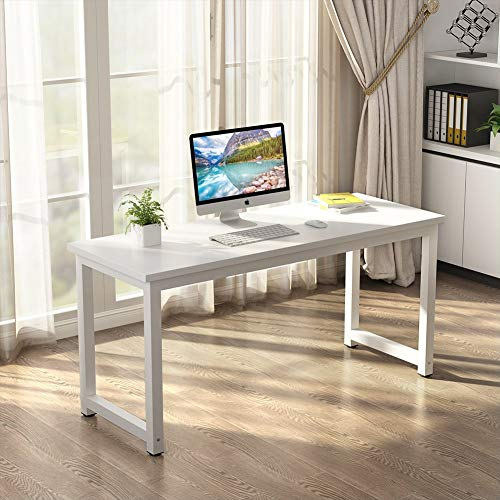 Huisen Furniture Modern Office Computer Desk Table White Simple Small Table for Student Home Study Writing Desk Gaming Table