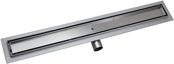 HENGMEI 70cm Drenaje de Piso Acero Inoxidable Desagüe de la ducha lineal para con fijación al suelo