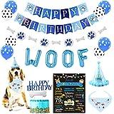 Party Inspo Dog Birthday Party Decorations Supplies Kit, Dog Birthday Bandana, Dog Birthday Hat, Dog Birthday Banner, Dog Birthday Balloons, Dog Birthday Card, Dog Birthday Cake Topper for Dog First Birthday Boy Dog Birthday.
