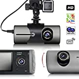 "Indigi Wide Angle BlackBox Dash Cam Dual Lens Car DVR w/ 2.7"" LCD"