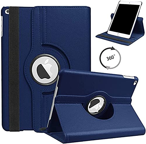 Shoppers Point Synthetic Leather Rotate Flip Cover Case Compatible for Apple iPad Mini 1 2 3 (7.9inch) – Blue