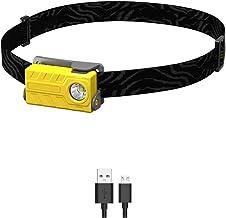 Oplaadbare koplamp, 360 lumen LED-koplamp, zeer geschikt voor hardlopen, wandelen, lichtgewicht, waterdicht, verstelbare h...