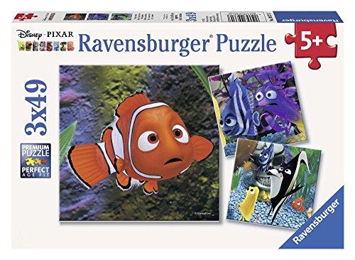 Ravensburger 09371 - Disney Finding Nemo, Im Aquarium Puzzle, 3 x 49 Teile