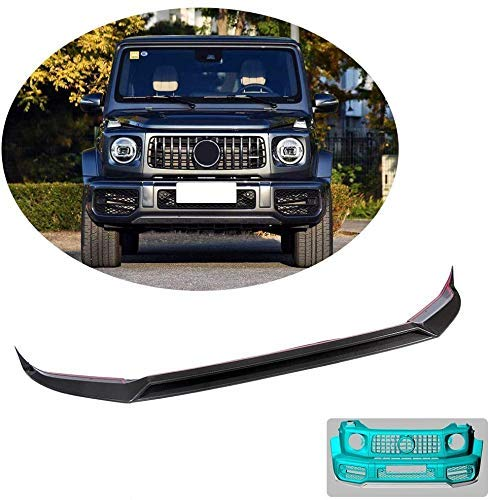 QTCD Front Bumper Lip Fits Mercedes-Benz G-Class W463 G63 Amg Wagon 2019Up Carbon Fiber Cf Upper Chin Spoiler Splitter Protector