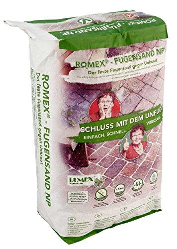 Preisvergleich Produktbild ROMEX Fugensand NP 25kg Sack - Der feste Fugensand gegen Unkraut