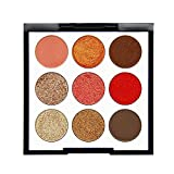 Eyeshadow Palette Makeup Matte Shimmer 9 Colors High Pigmented Cosmetic Eye Shadows (C)