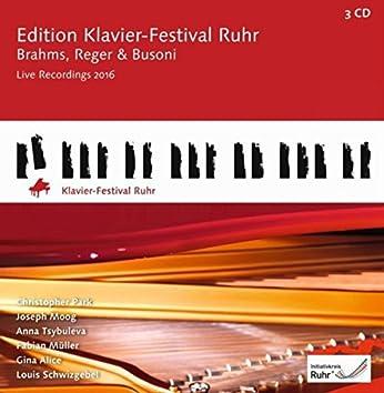 Brahms, Reger & Busoni: Edition Klavier-Festival Ruhr, Vol. 35 (Live)