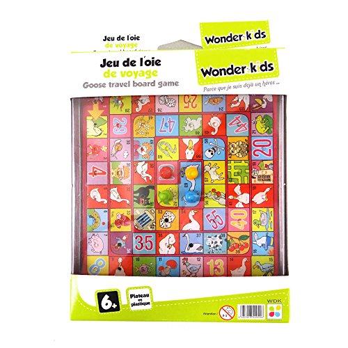 WDK Partner - A1300364 - Jeu de Société - Jeu Voyage Oie Plateau Plast