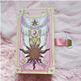 Cardcaptor Sakura - 56PCS Card Captor Sakura Kinomoto Sakura Comic Edition Clow Cards Full Set Gift Pink