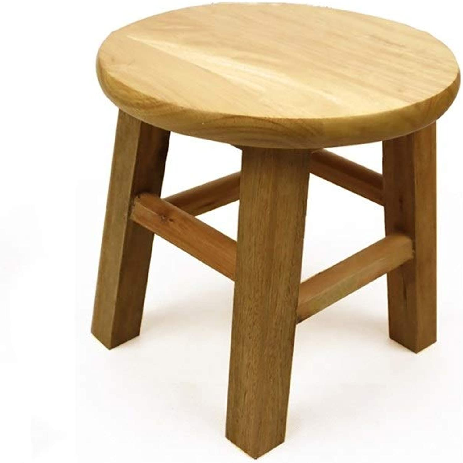 European Chair Solid Wood Stool, Round Stool Small Board Table Stool Dining Stool Household Foot Foot Stool