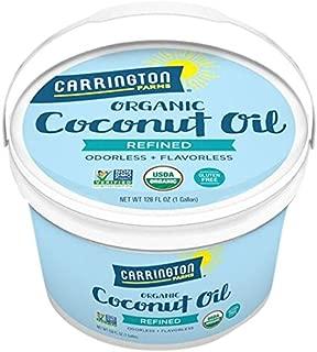 Carrington Farms Organic Refined Coconut Oil, Gluten Free, Non-GMO Verified, 1 Gallon