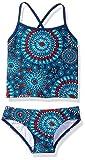 Kanu Surf Girls' Toddler Beach Sport 2-Pc Banded Tankini Swimsuit, Melanie Red/White/Blue, 4T