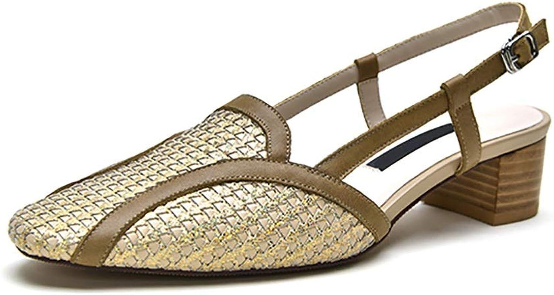 Kvinnors Vintage Sandals Sandals Sandals Snakeskin, Tjock Heel 4cm (färg  Brons, Storlek  36)  för att ge dig en trevlig online shopping