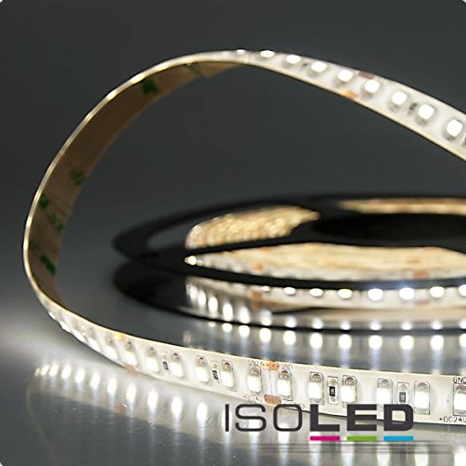 Isoled Marken LED Strip IP66, 24V, 9,6Watt m, wasserfest, 4500Kelvin, neutralwei, 600lm m, CRI89, dimmbar, flickerfree