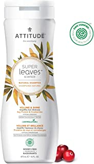 ATTITUDE Super Leaves, Hypoallergenic Volume Rich Shampoo, Soy Protein & Cranberries, 8 Fluid Ounce