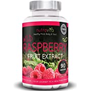 Wild Raspberry Ketones Fruit Extract by Nutravita   90 Capsules of The purest Naturally Sourced Wild Raspberry Ketones   Made in The UK