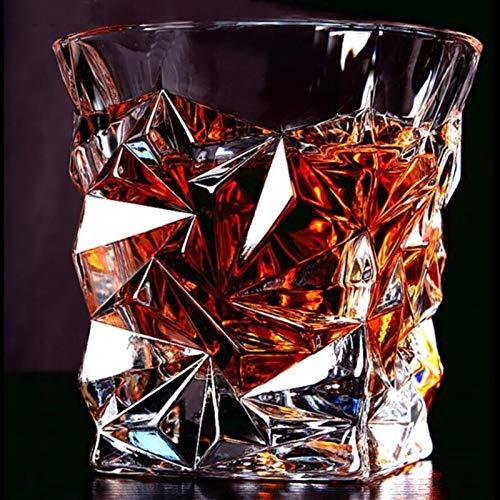 TSP Accesorios para vino Copa de whisky de cristal cuadrado para el hogar, bar, agua de cerveza y fiestas Hotel Boda Copas de regalo (color: C 8,5 x 8,8 cm)
