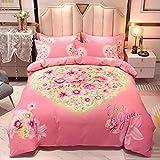 Bedclothes-Blanket Trapunta Matrimoniale Estiva Moderna,Set 3D di Biancheria da Letto a Quattro Pezzi Tridimensionale di Quattro Pezzi Giallo-J_1,5 m del Letto