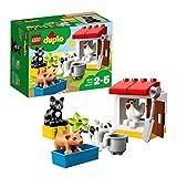 LEGO DUPLO AnimalidellaFattoria, Set Educativo di Mattoncini da Costruzione conGatto Nero,Giocattoli per Bambini dai 2 ai 5 Anni, 10870