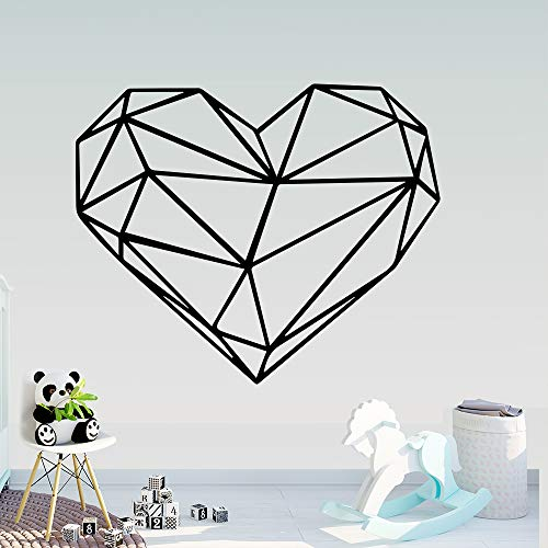 Tianpengyuanshuai Creative geometric heart-shaped wall stickers, bedroom decoration stickers, wall decoration art, wall stickers, wall stickers 80x67cm