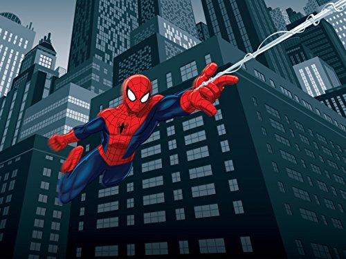 AG Design FTD 2208 Spider-Man Marvel, Papier Fototapete - 360x254 cm - 4 teile, Papier, multicolor, 0,1 x 360 x 254 cm