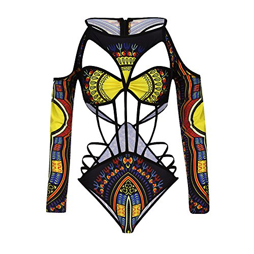 PinkLu Bikini éTnico Vintage Estampado Africano para Mujer Traje De BañO De Bikini con Estampado Africano para Mujer De Sujetador Acolchado Ropa De Playa