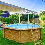 Piscina in legno BARBADOS 1 434x401x116 cm legno nordico piscine giardino arredo madelux