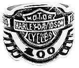 Legisdream Anillo de Motociclista para Hombre Escrito tamaño de Motocicleta Harley Punk - Talla es 16 -