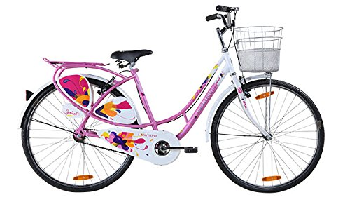 BSA Ladybird Splash 26T Barbie Pink Steel Bike/Bicycle for Girls and Ladies