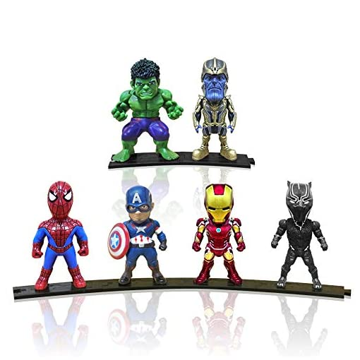 Action Figures, Anime Figures, Baichuang Action Figures for Boys, 6 Pack Hero Series Set Figures with Bases, PVC Figure…