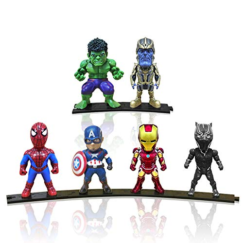 Action Figures, Anime Figures, Baichuang Action Figures for Boys, 6 Pack Hero Series Set Figures with Bases, PVC Figure Doll with 6 Popular Classic Characters Figures Ages 3 and up