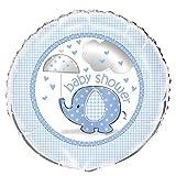 Unique Party- Globo Foil Baby Shower con Elefante, 45 cm (41707)