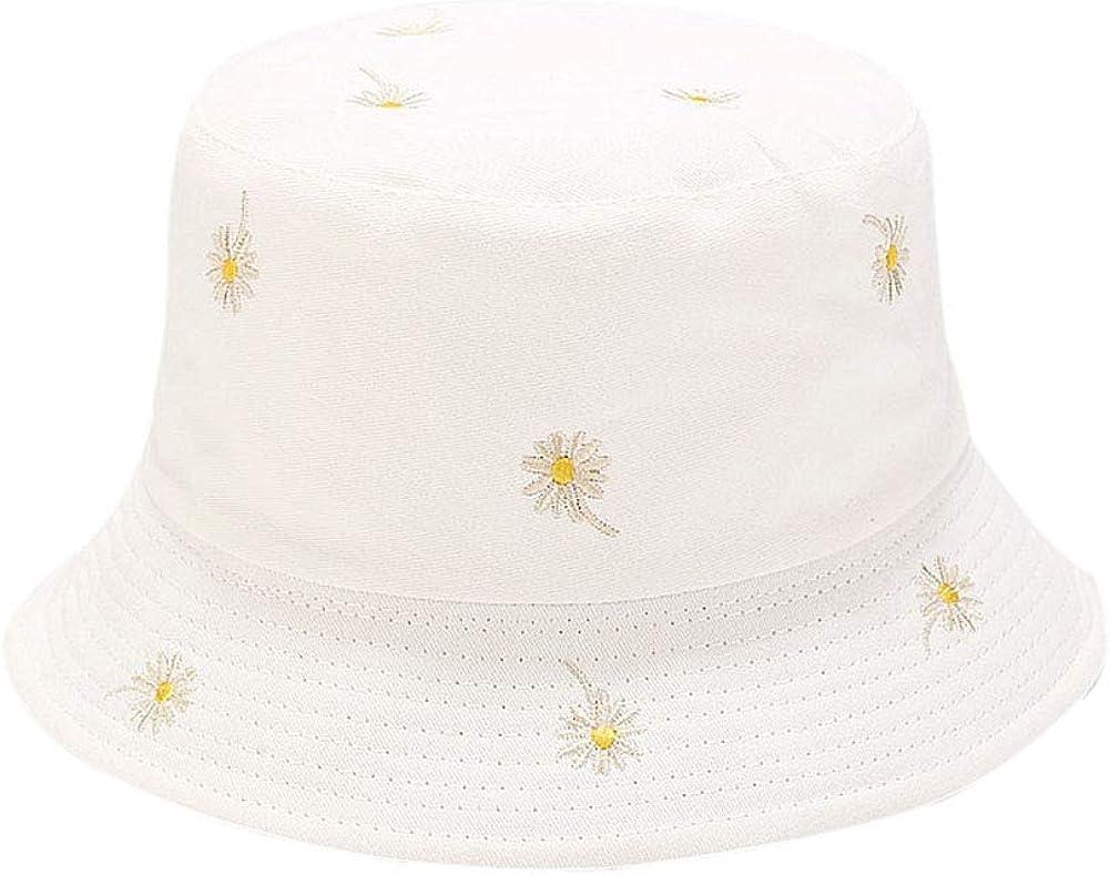DCUTERQ Unisex Print Bucket Hat Casual Travel Double Sides Outdoor Sun Hats Packable Reversible Fisherman Cap