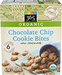 365 Everyday Value, Organic Chocolate Chip Cookie Bites (6 - 1.05 Ounce Packages), 6.3 Ounce