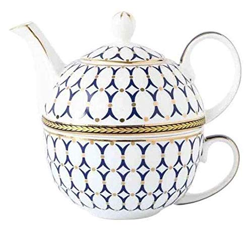 Fancy Tea Cups Set, Portable Kungfu Tea Set, Tea Sets Ceramic Teacup Coffee Cup Suit Personal European Home Office, a Teapot and a Teacup, Tea Mugs Gifts for Women and Men