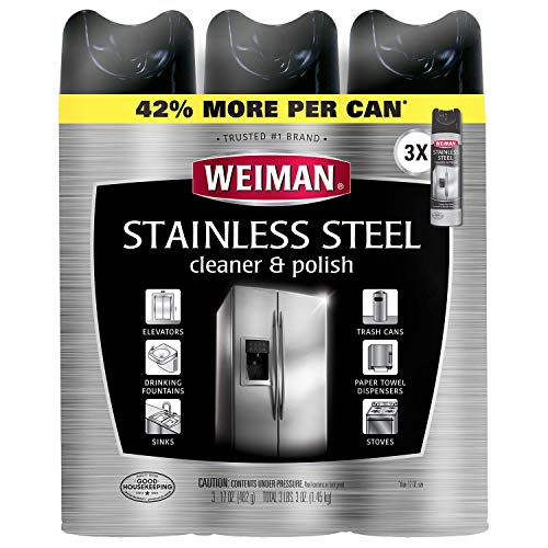 Weiman Stainless Steel Cleaner & Polish, 17oz. (3 Pack)