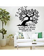 Familieboom Muurstickers Woonkamer Decoratie Stickers zijn net als takken op takken. Roots Kinderkamer Grote Boom Stickers 87X 84 cm