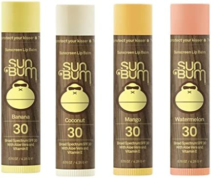 Sun Bum SPF 30 Lip Balm 4 Pack Banana Coconut Mango Watermelon product image