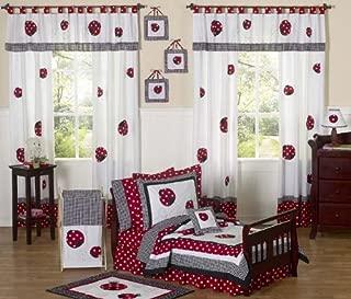Sweet Jojo Designs 5-Piece Red and White Polka Dot Ladybug Girl Toddler Bedding Set