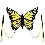 Wolkenstürmer Bella Butterfly - Cometa acrobática infantil (1 cuerda, con varillas), color amarillo