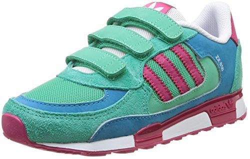 adidas, ZX 850 CF K, Scarpe per Bambini, Unisex - Bambino, Multicolore (Solmnt/Bopink/Boaqua), 35