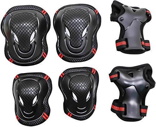 Conjuntos de protectores de patines de rodillos, conjunto de protectores infantiles Kid Junior Knee Pads Codel Pads Guardia de pulsera para adolescentes Adulto BMX Skateboard en línea Roller Skate Out
