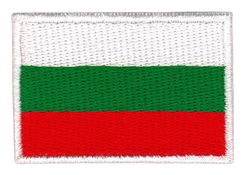 Bestellmich Bulgarien Flagge Klein Aufnäher Bügelbild Größe 4,7 x 3,2 cm