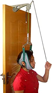 genmine Over The Door Cervical Traction Device Set Unit for Neck Shoulder Brace Head Pain Relief Home