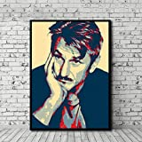 DNJKSA Sean Penn Poster Leinwand Malerei Wandkunst